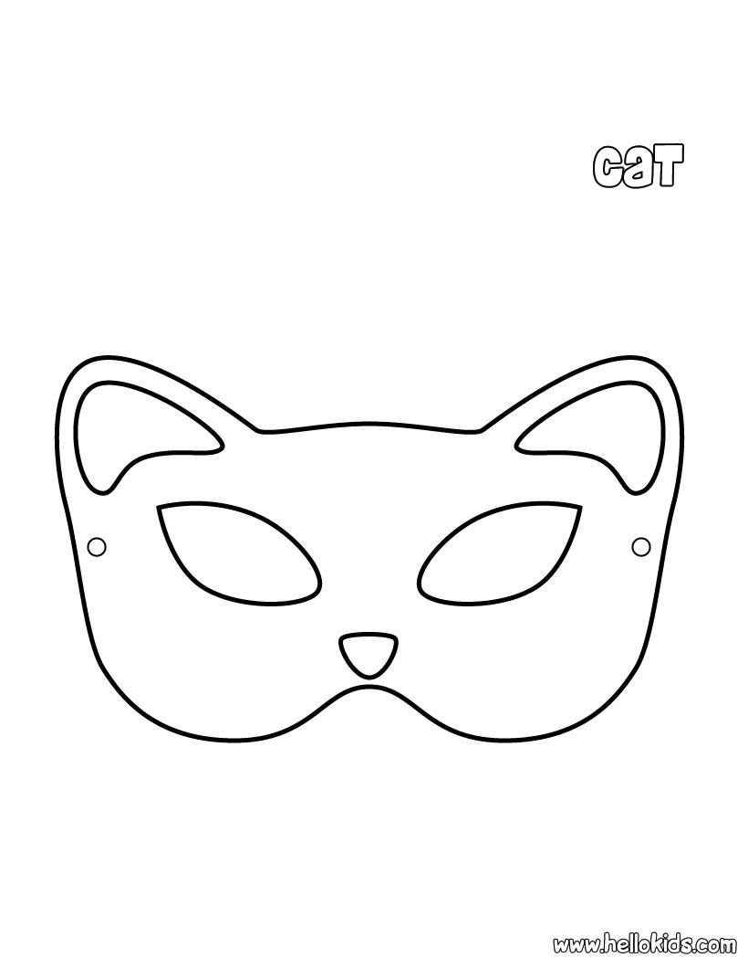 Cat mask template diy leather projects pinterest for Caterpillar mask template