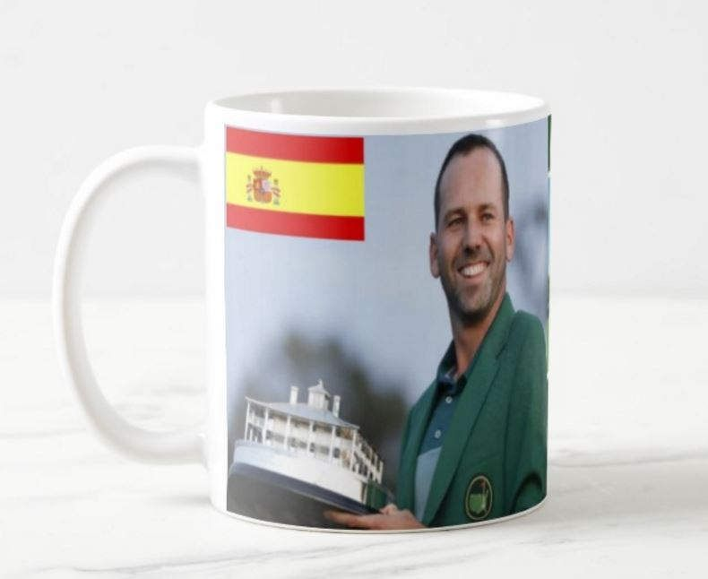 Sergio Garcia Masters winner 2017 Golf mug 11oz ceramic by ANYSIZEPRINTED on Etsy