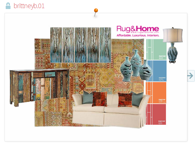 pantone spring color inspiration - slip cover sofa, reclaimed furniture, and patchwork hand knotted rug.