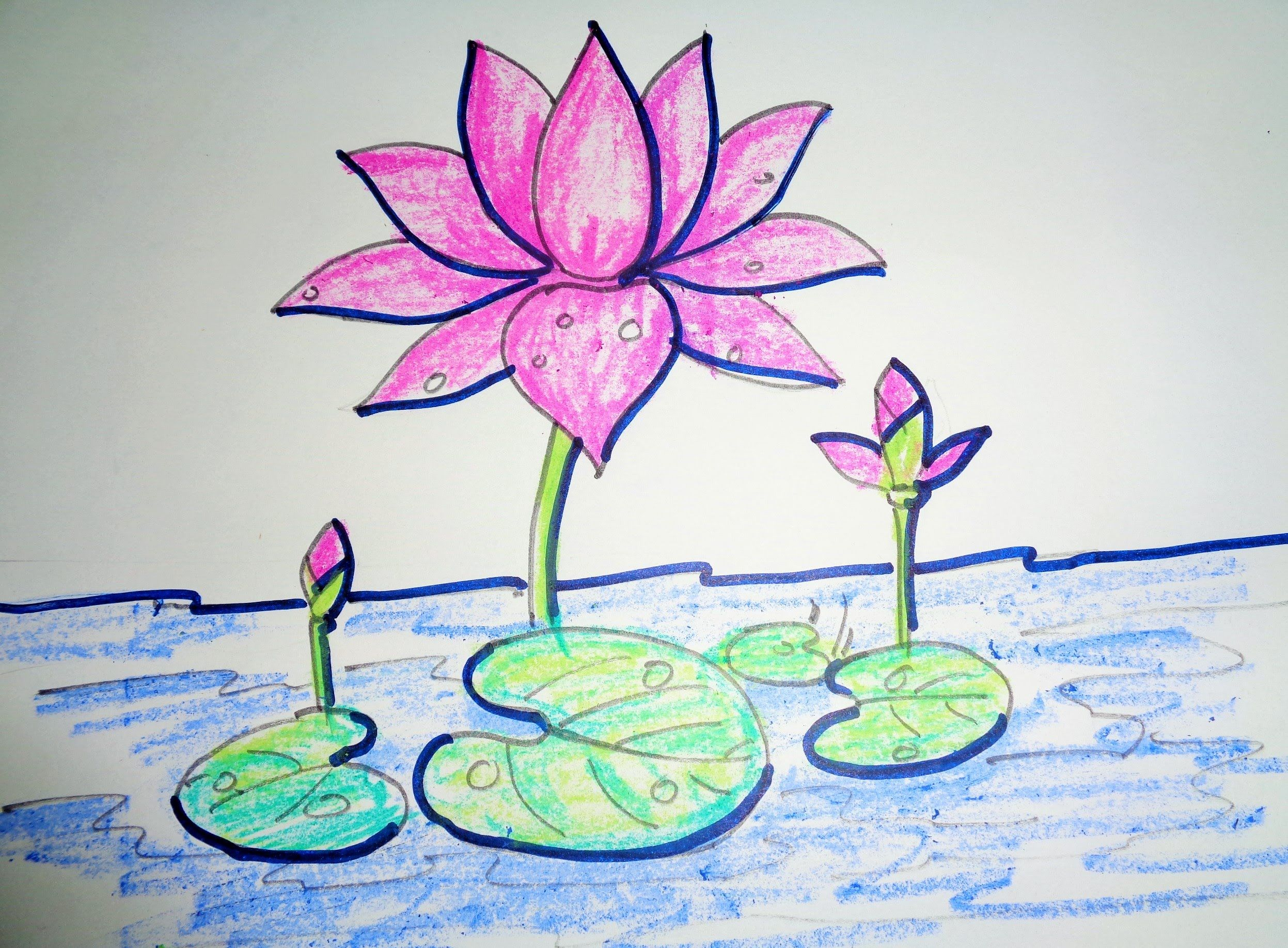 How To Draw Lotus Step By Step Easy Drawing Lotus