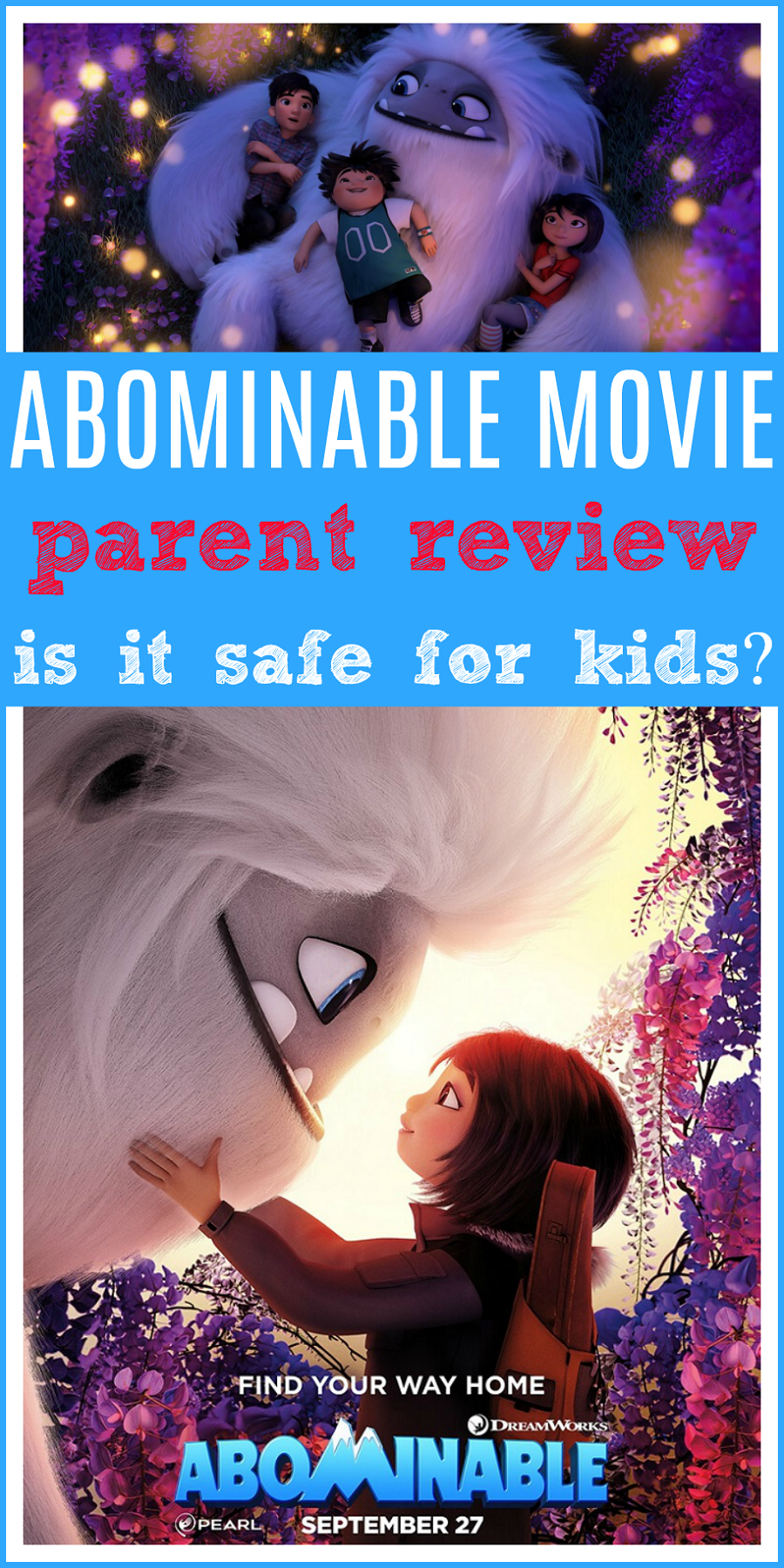 Abominable Movie Review (With images) Kids safe, Scary kids