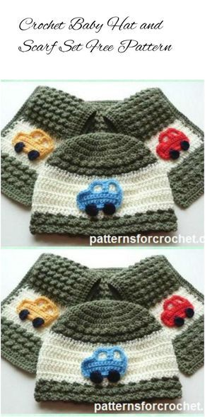 Crochet Kids Hat and Scarf Set - 17 Free Crochet Baby Beanie Hat ...
