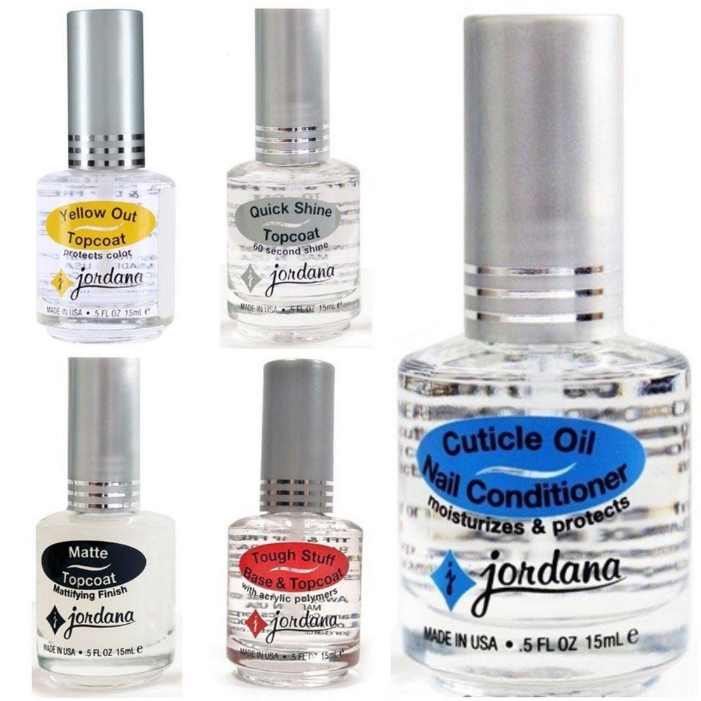 Jordana Professional Nail Treatment Polish Top Coat Base Cuticle Oil ...