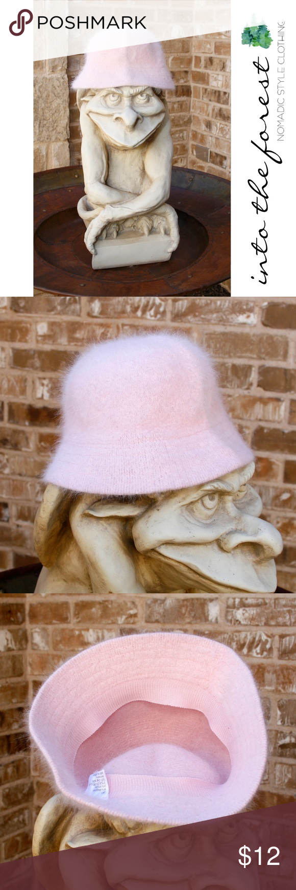 D Y Pink Fuzzy Angora Bucket Hat EUC Soft and sweet! Excellent ... fbe06c64ee6