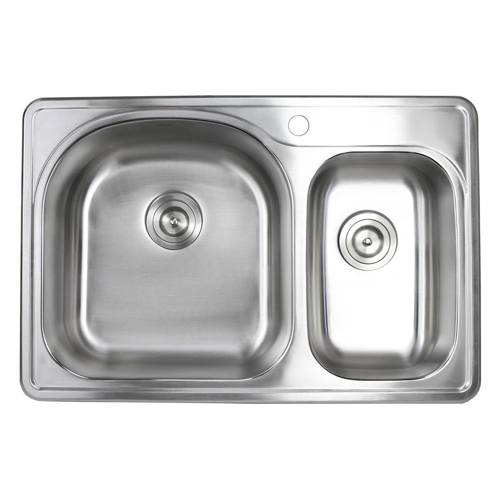 30 Inch Double Bowl Drop In Kitchen Sink In 2020 Best Kitchen