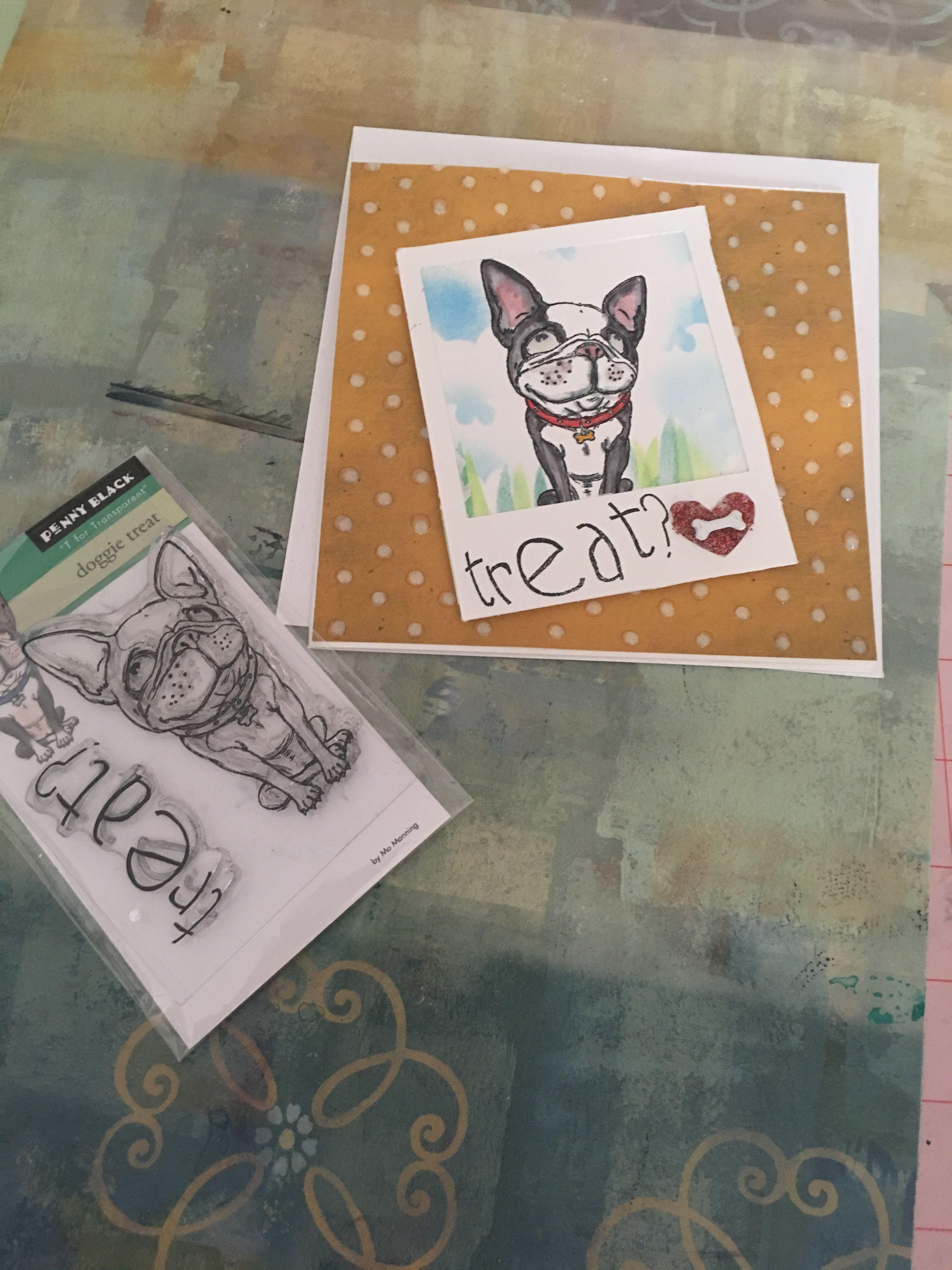 penny black dog handmade birthday card 2019  penny black