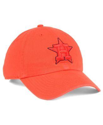 f018e403cbf87 47 Brand Houston Astros Tonal Pop Clean Up Cap - Orange Adjustable ...