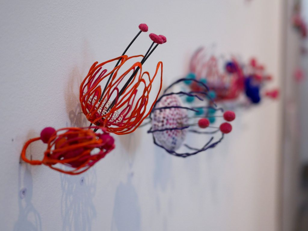 Glasgow School of Art - Jewellery Degree Show 2015 - 15 -Glasgow School of Art - Jewellery Degree Show 2015 - 15 -  Work by Maisie Ford in various wires, fabric and textiles.