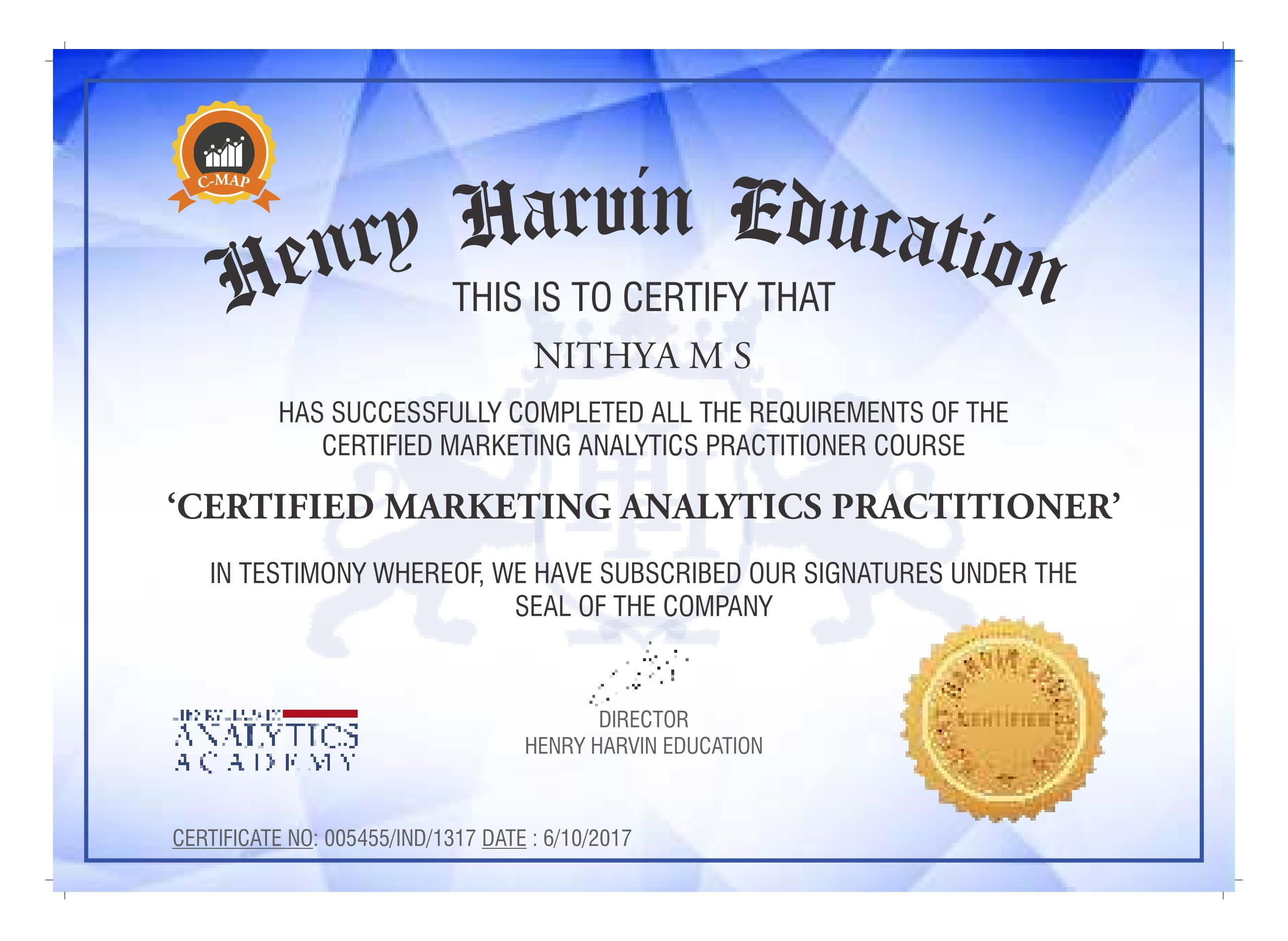 Classroom and online marketing analytics certification