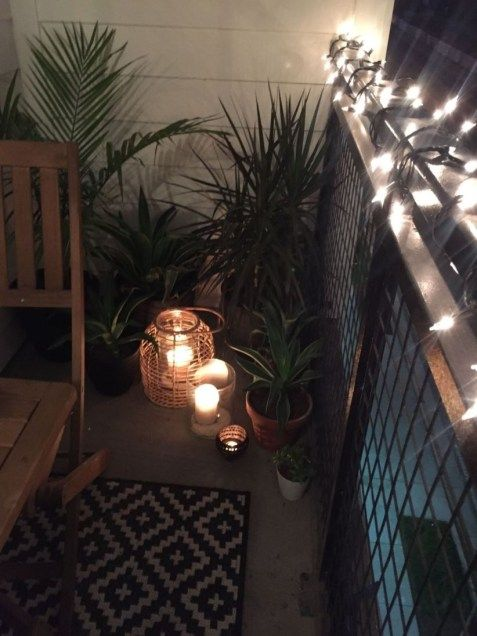 47 Clever Small Balcony Makeover on A Budget #smallbalconyfurniture