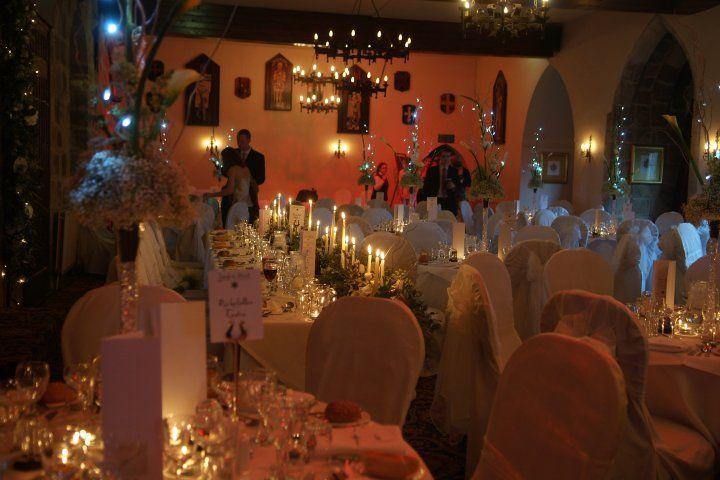 Room Set For Wedding At Langley Castle Hotel Hexham