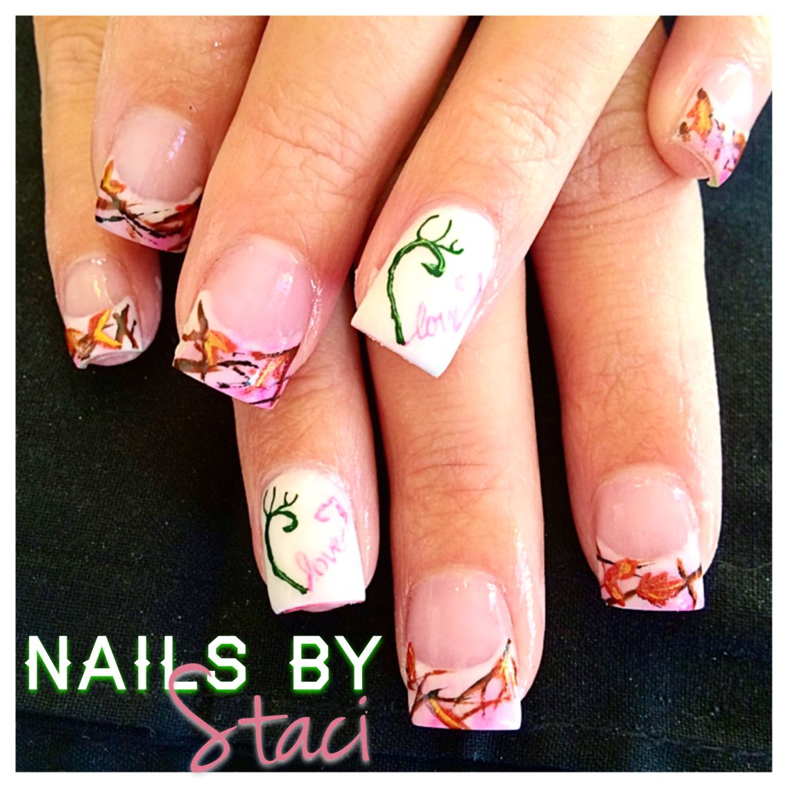 Light Pink Camo Nails Stacis Nail Artistry Pinterest Pink