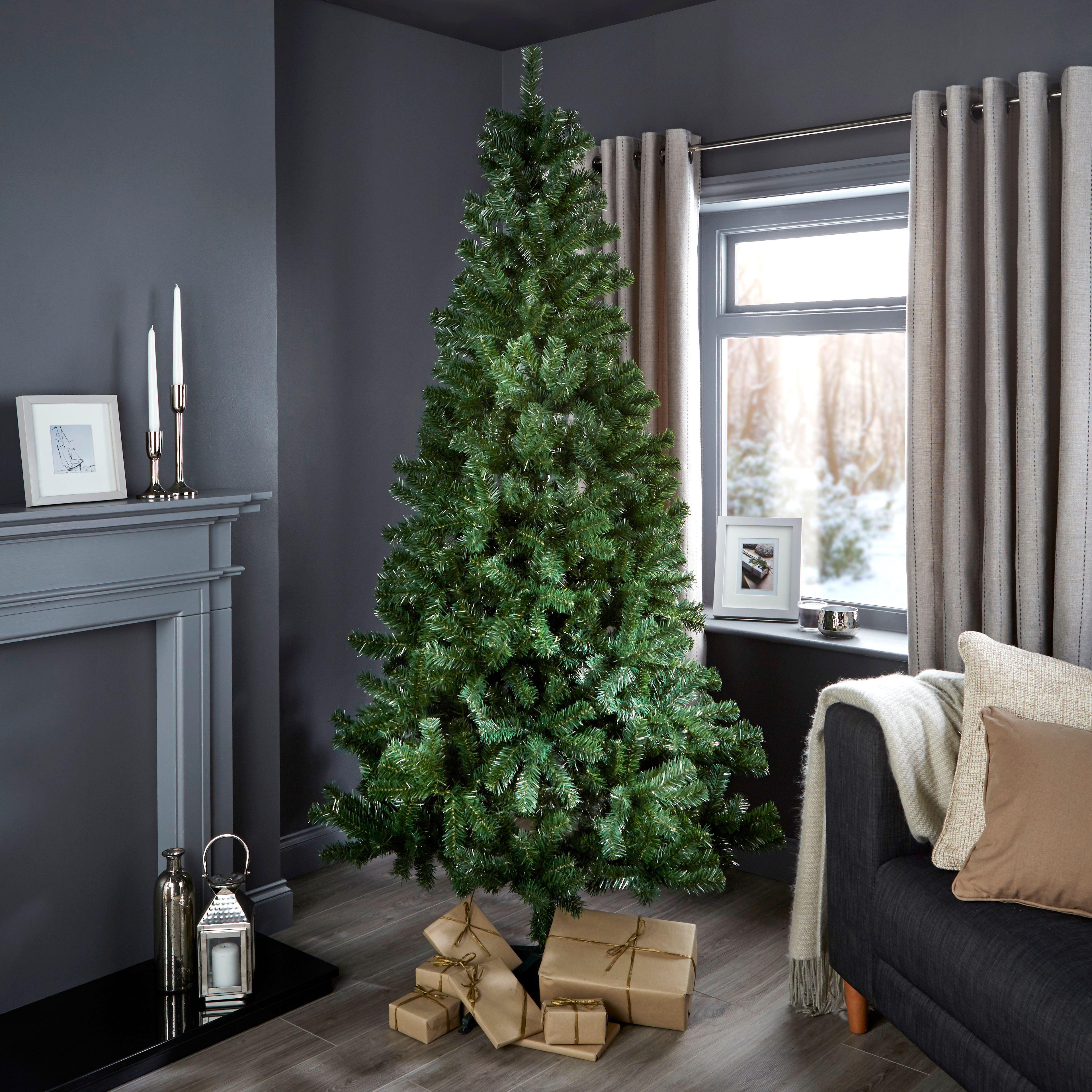 7ft Woodland Classic Christmas Tree   Departments   DIY at B&Q ...