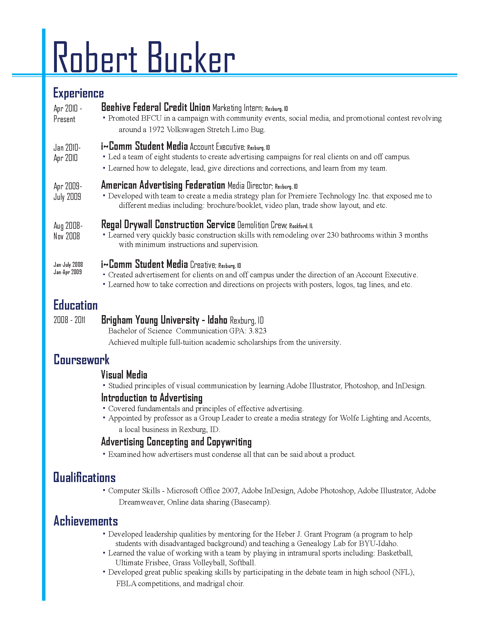 best resume layouts 2013