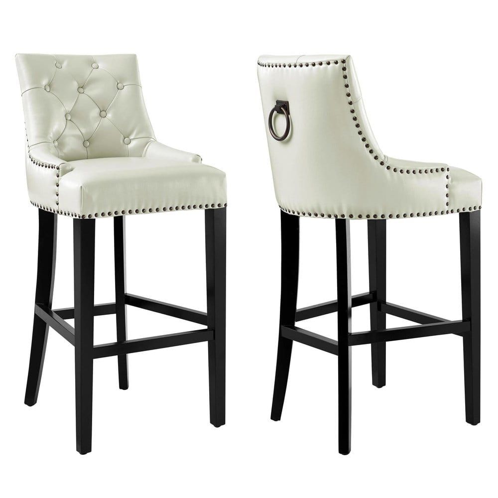 Uptown Cream Leather Barstool Ping The Best Deals On Bar Stools