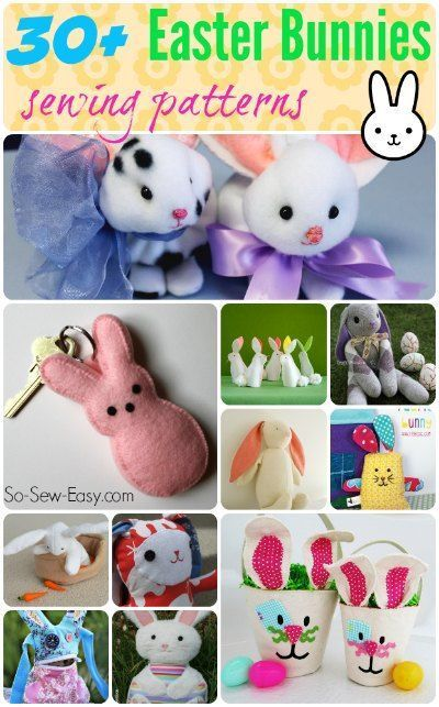 Easter bunnies to sew pinterest easter sewing patterns and more than 30 sewing patterns tutorials and inspiration for easter bunnies to sew negle Gallery