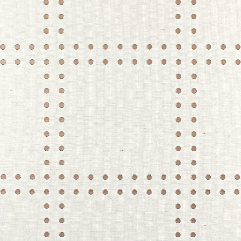 Rivets in champagne on ivory | phillip jeffries