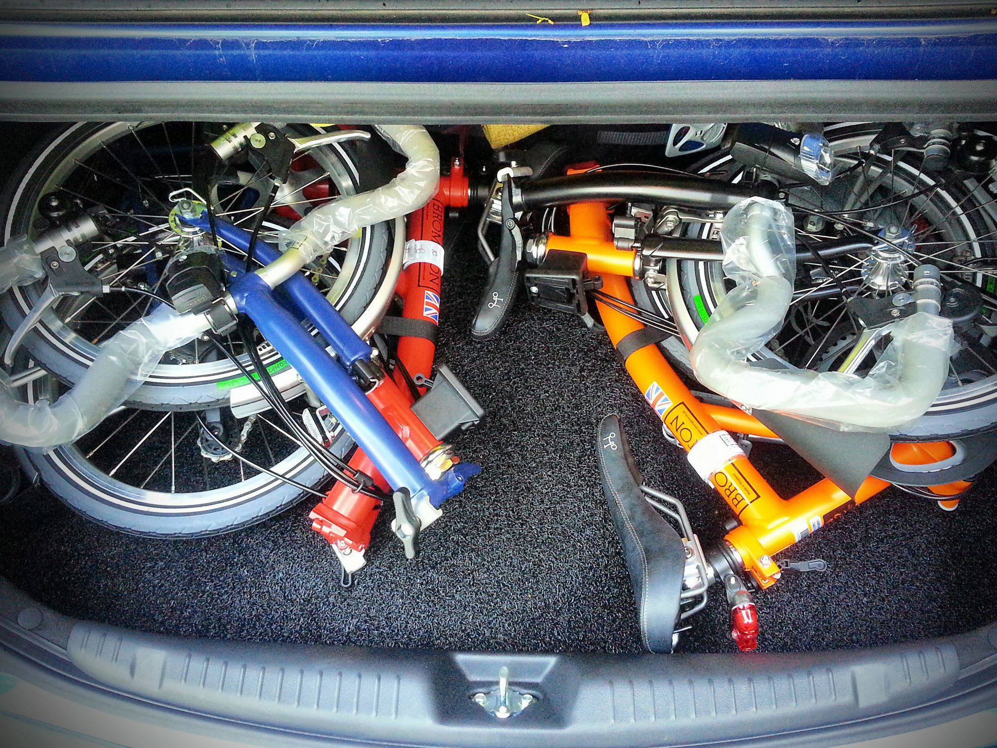 Fresh from the distributor  How our Bromptons fit into the