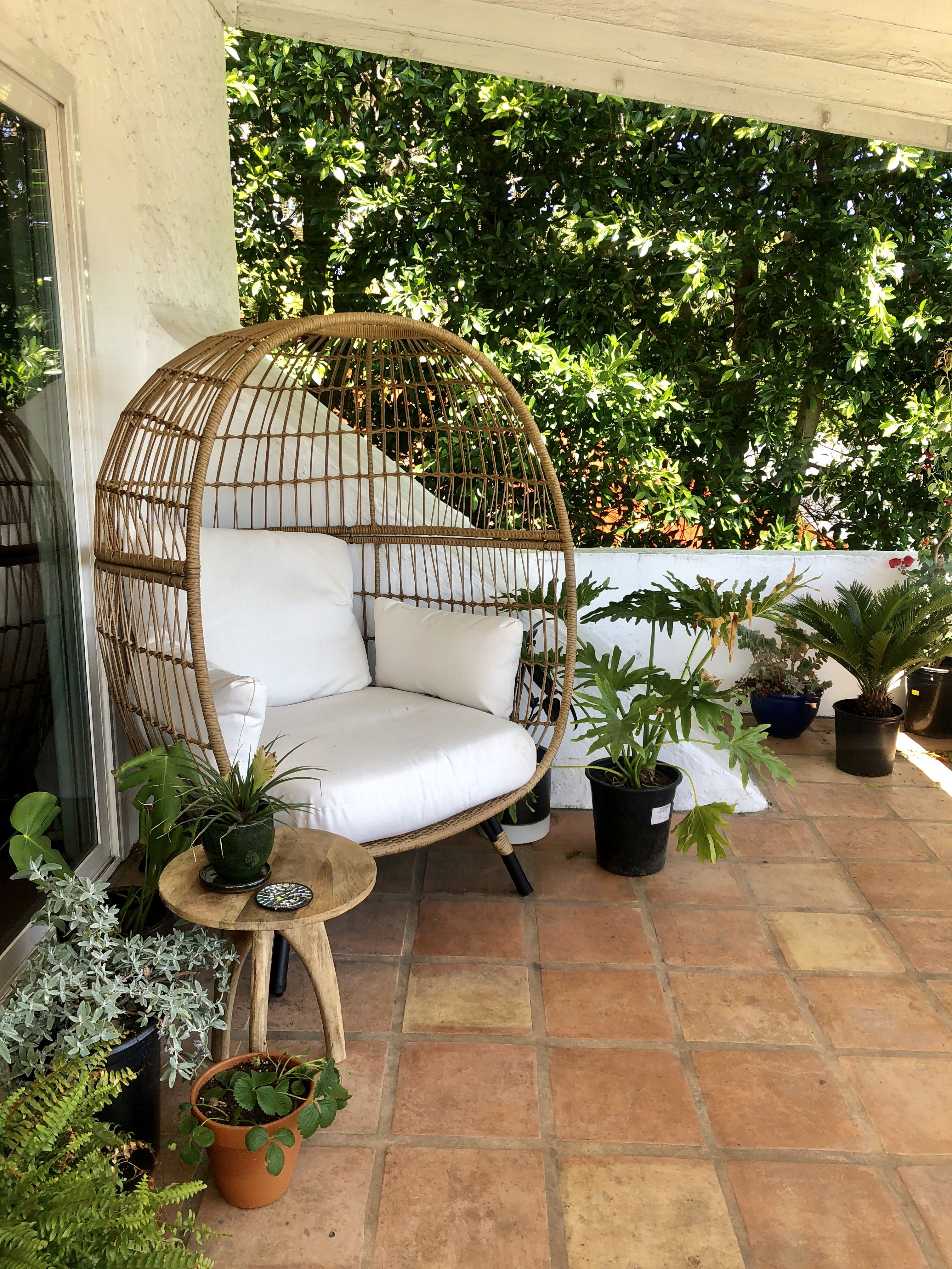 Target opalhouse egg chair in our jungle balcony target