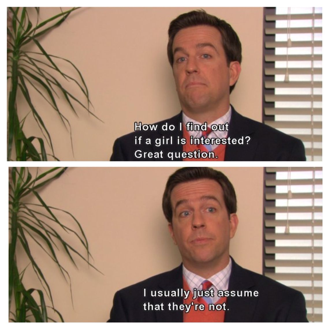 20 Signs You Re Andy Bernard From The Office When It Comes To Dating The Office Show Office Jokes Andy Bernard