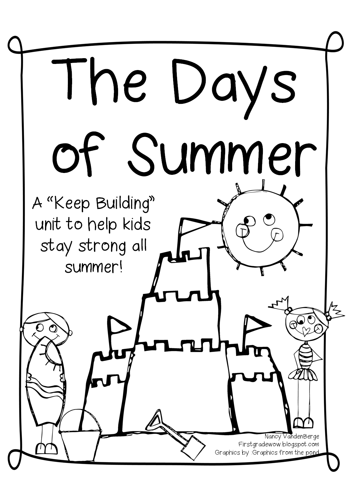 The Days of Summer! A send home packet of fun! (First Grade Wow)   Summer  worksheets [ 1596 x 1170 Pixel ]