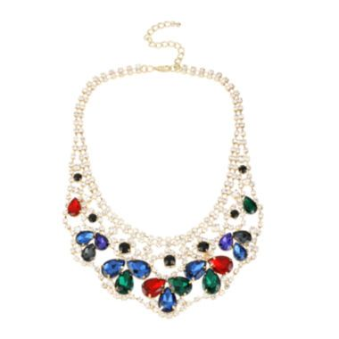 Bleu™ Multicolor Stone Web Necklace  found at @JCPenney