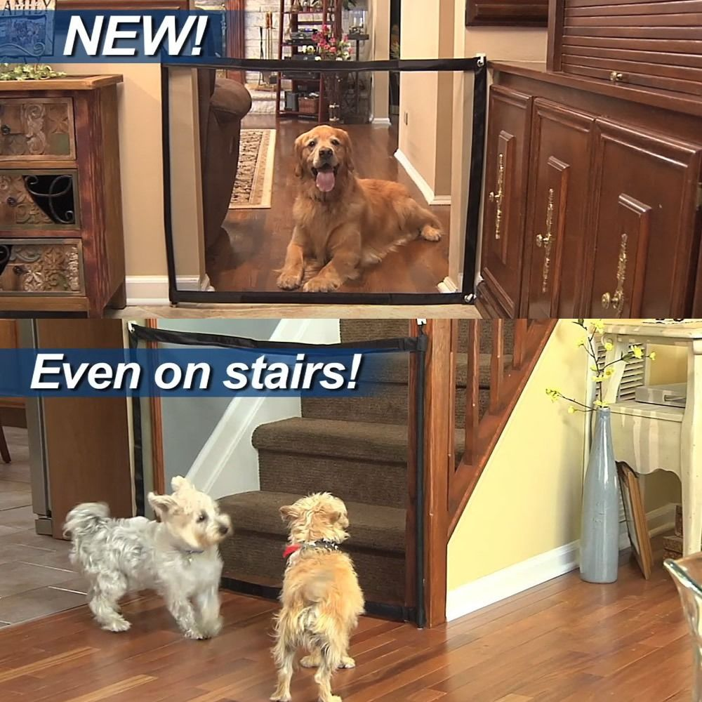 Portable Kids Pets Safety Gate Guard In 2020 Pet Safety Dog Gate Door Guard