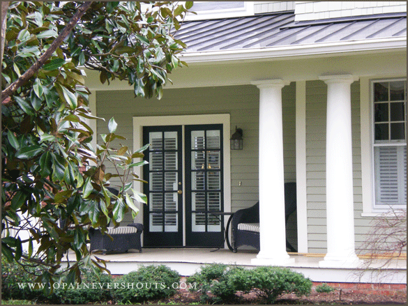 Exterior Paint Love The Pale Green Gray With White Trim