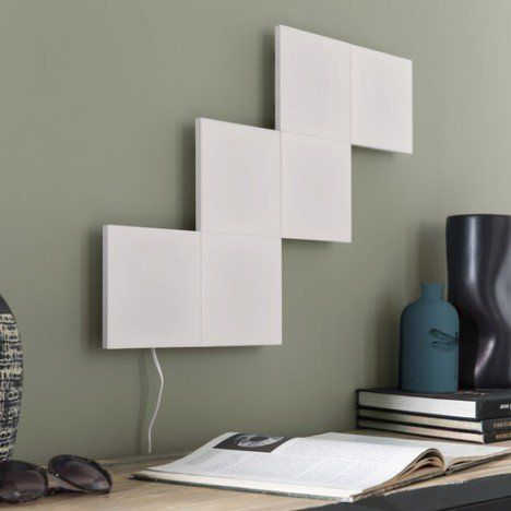 Panneau Led Design Led Integree Puzzle Plastique Blanc 1 Inspire Panneau Led Led Applique Murale Leroy Merlin