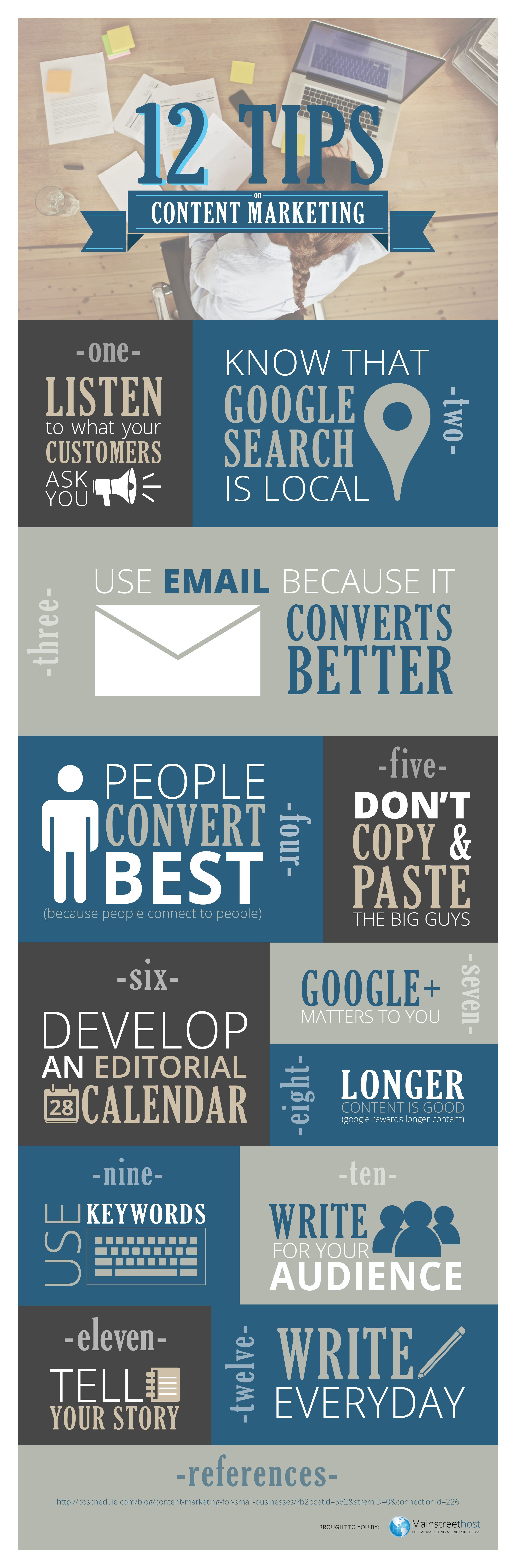 12 Content Marketing Tips Really Successful Small Businesses Follow Infographic An Editorial Calendar And Long Form Are Essentials