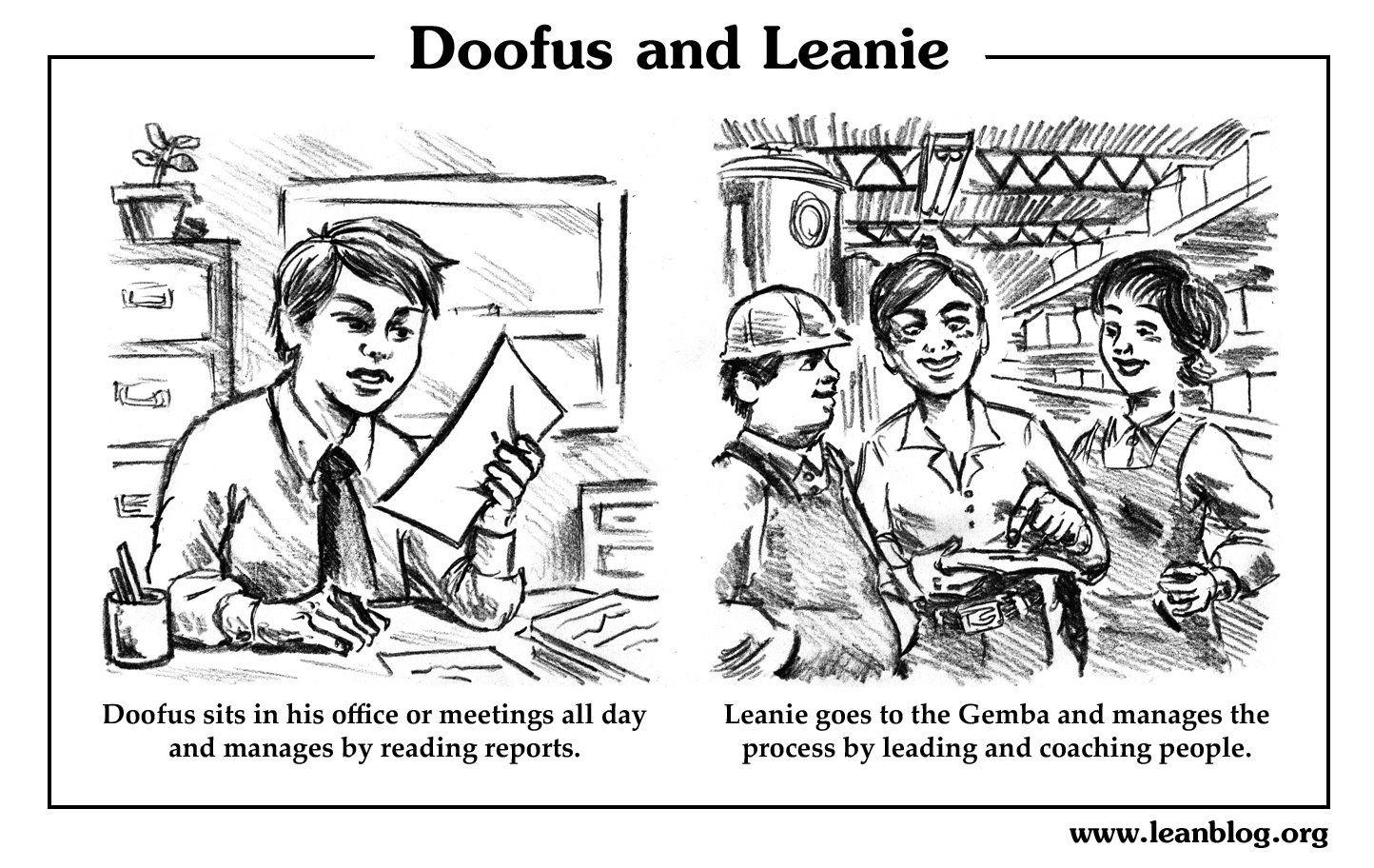 Doofus And Leanie Cartoon 1