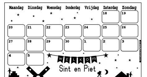 Quatang Gallery- Sinterklaas Aftelkalender 2017 Pdf Sinterklaas Aftelkalender Feestdagen