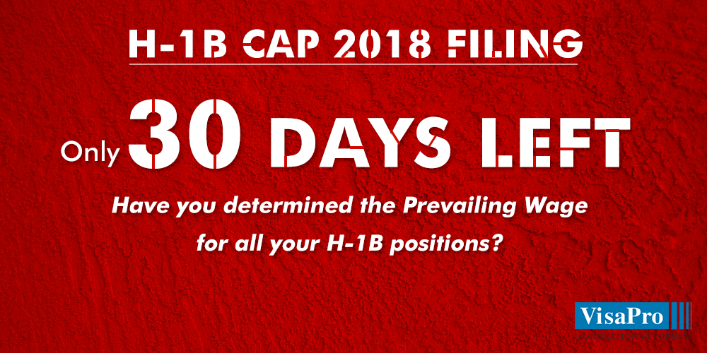30 Day H1B Cap Red Alert Early determination of h1b