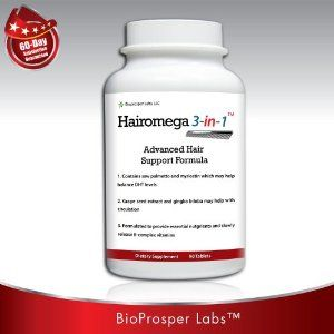 Hairomega 3-in-1 Dht-blocking, Nutrient Providing, Circulation Improving Hair Loss Supplement