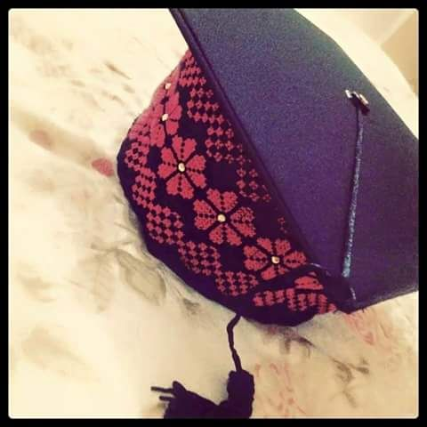 قبعة تخرج مطرزة Palestinian Embroidery Embroidery Stitches Embroidery