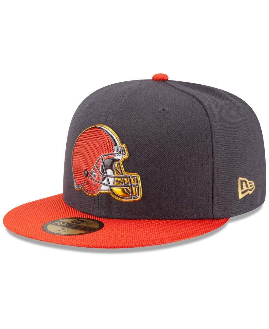 New Era Cleveland Browns Gold Collection On-Field 59FIFTY Cap  d6c584a06
