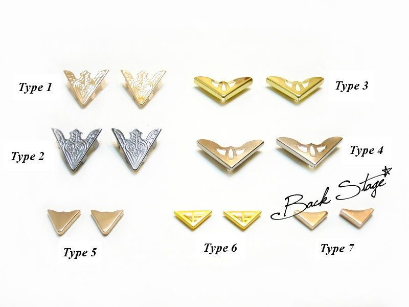 Image of Blouse Shirt Metal Tips Pointed Collar Clip
