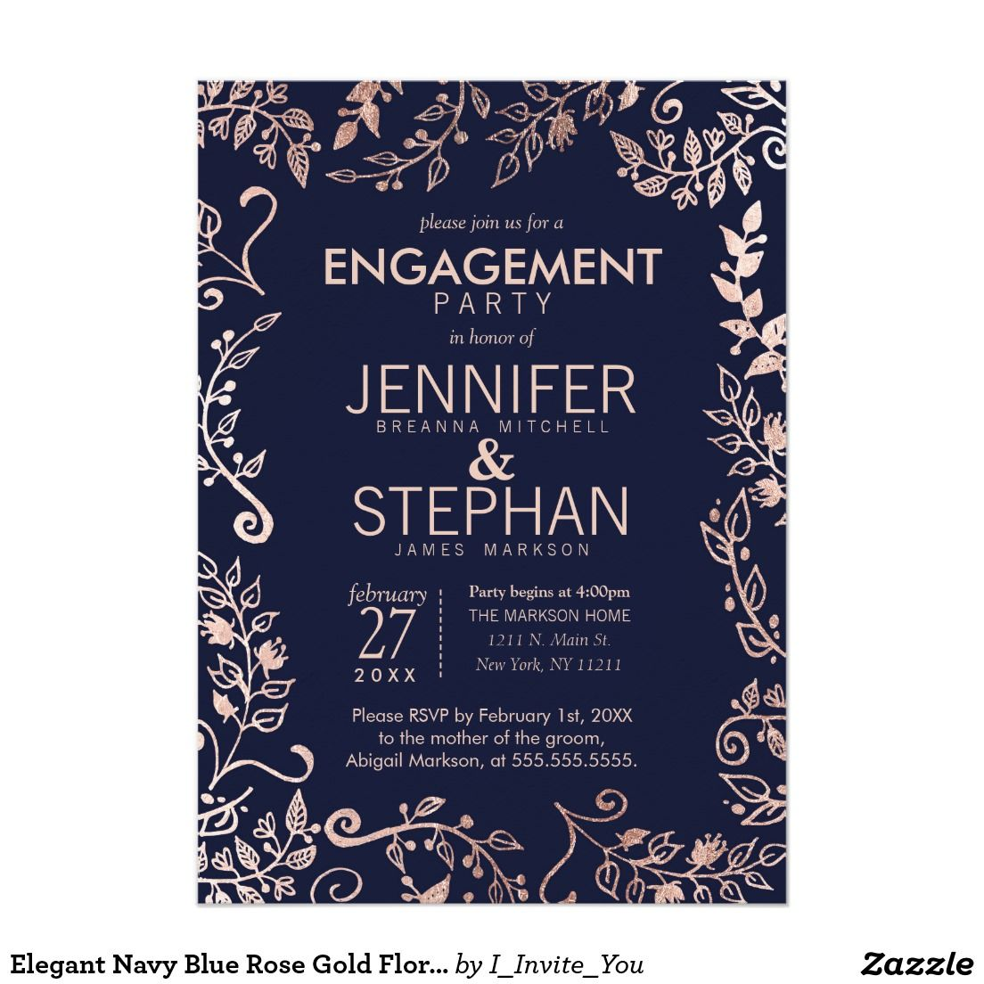 13++ Rose gold wedding invitations pinterest ideas