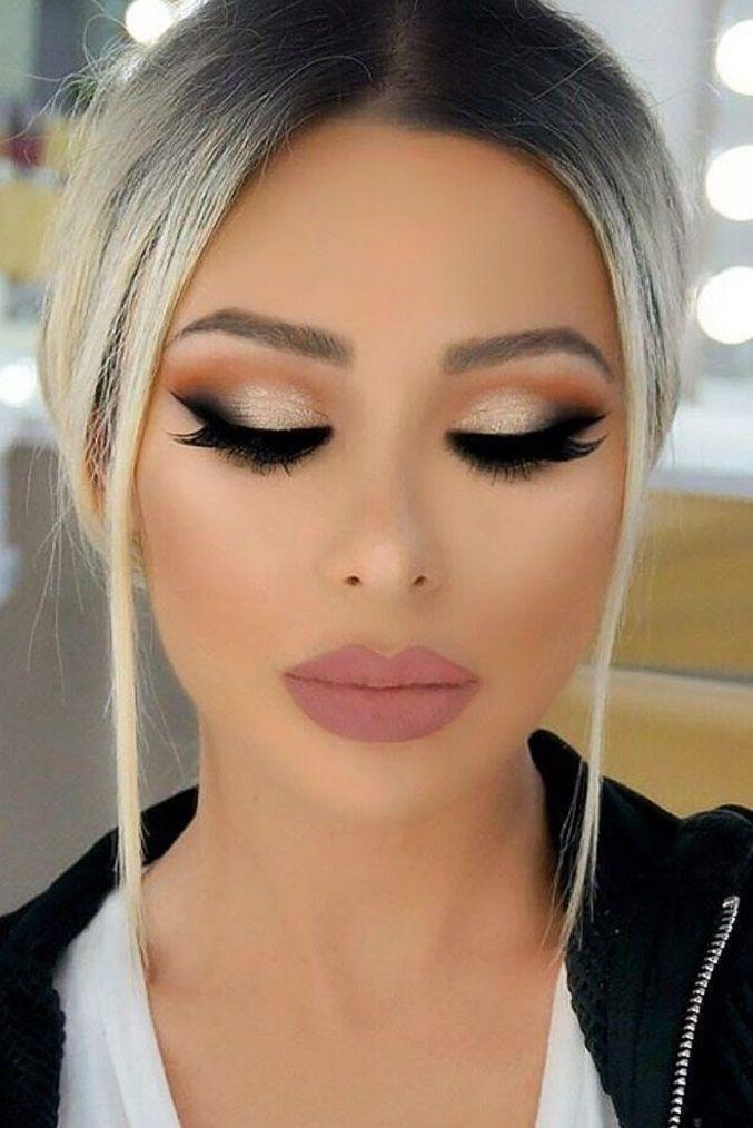 Gorgeous Smokey Eye Makeup Idea + pink matte lip #makeup smokeyeyes