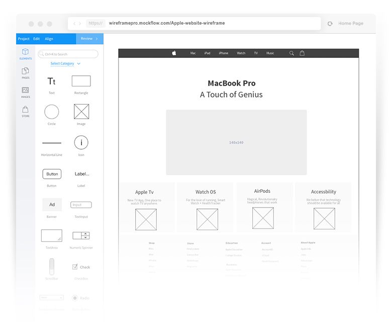 Mockflow Online Wireframe And Ux Tools Wireframe Prototyping Tools Wireframe Website