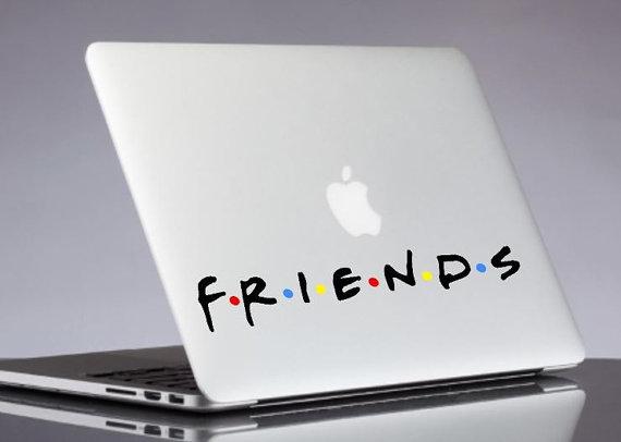friends decal - friends tv show laptop sticker - macbook decals