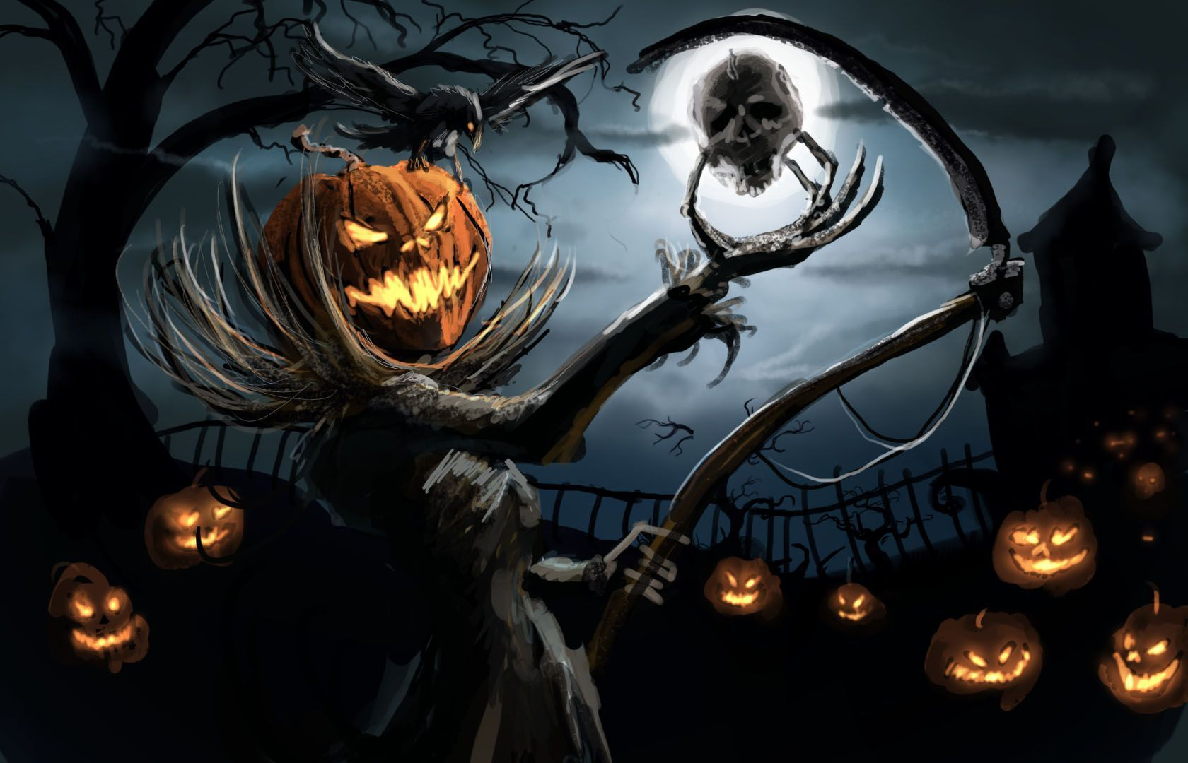 undefined Creepy Halloween Backgrounds (48 Wallpapers