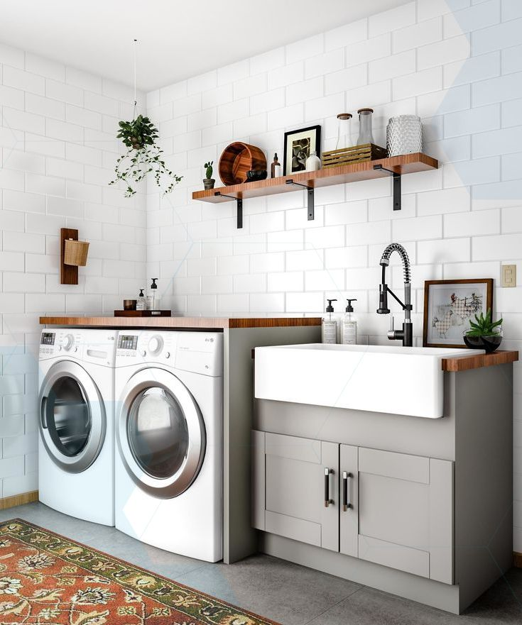 Scandinavian Bedroomdesign Ideas: Nice 48 Modern Laundry Room Makeover Ideas For Your House