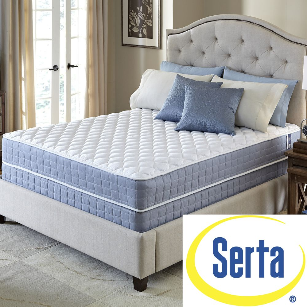 serta revival plush queen size mattress and foundation set