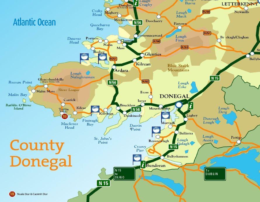 15 county donegal mappdf dingle peninsula ireland pinterest 15 county donegal mappdf gumiabroncs Choice Image