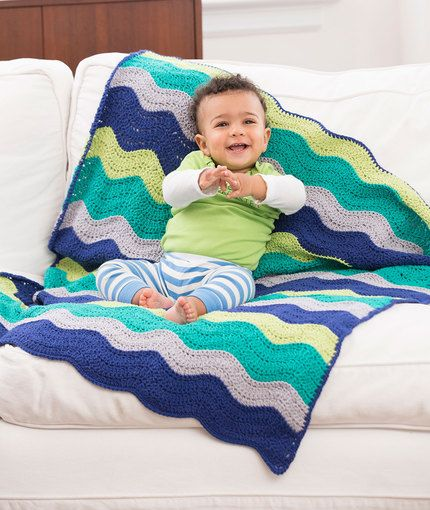 Rock Your Baby Blanket Free Crochet Pattern In Red Heart Yarns New