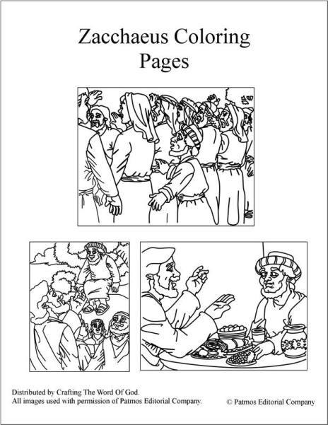 Zacchaeus Coloring Pages Zacchaeus Coloring Pages Bible Coloring Sheets