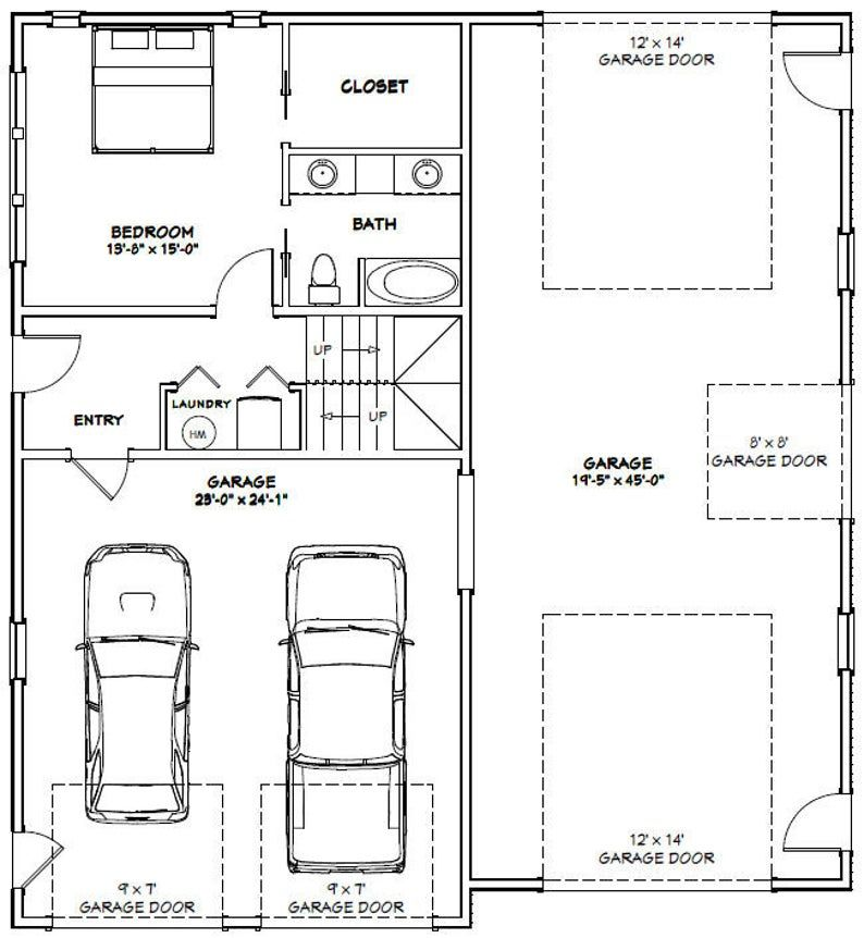 44x48 House -- 4-Bedroom 3-Bath -- 1,645 sq ft -- PDF ...