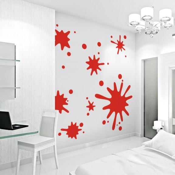 Paint splatter wall decals design - Wandsticker jugendzimmer ...