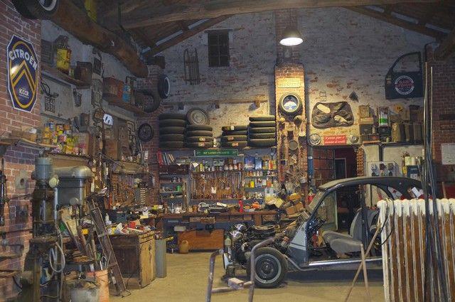 garage de r ve garage d co 2cv garage garage atelier garage garage de r ve et portail. Black Bedroom Furniture Sets. Home Design Ideas